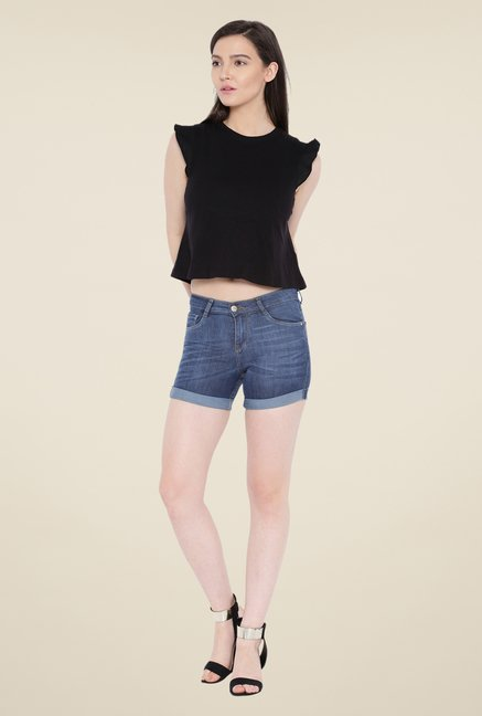 Kraus Blue Denim Shorts