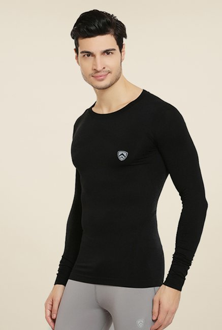 Armr Unisex Black Aire Pro Full Sleeve Seamless T Shirt