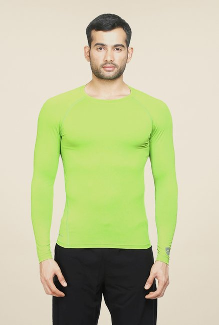 Armr Unisex Neon Green Skyn Full Sleeve T Shirt