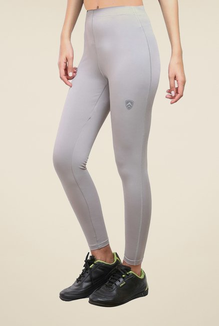 Armr Grey Sport Full Length Tights