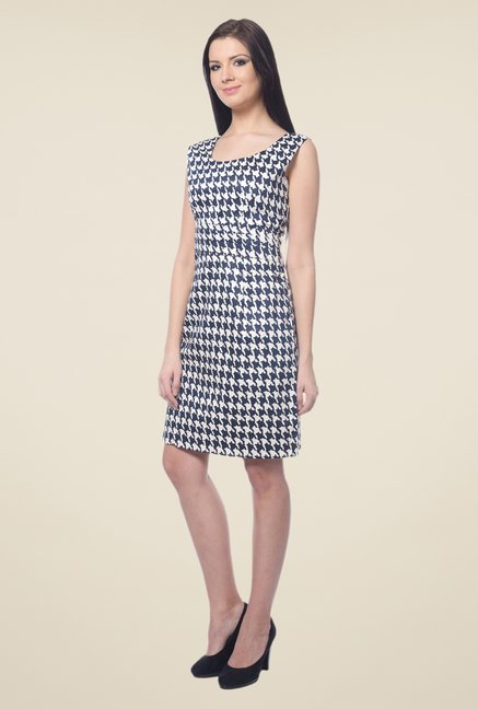 Forever Fashion Navy Printed Dress