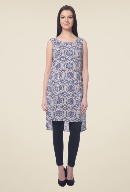 Forever Fashion Blue Printed Tunic