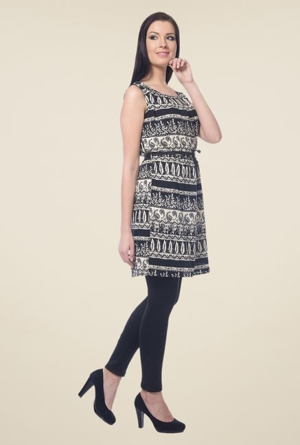 Forever Fashion Black Printed Tunic