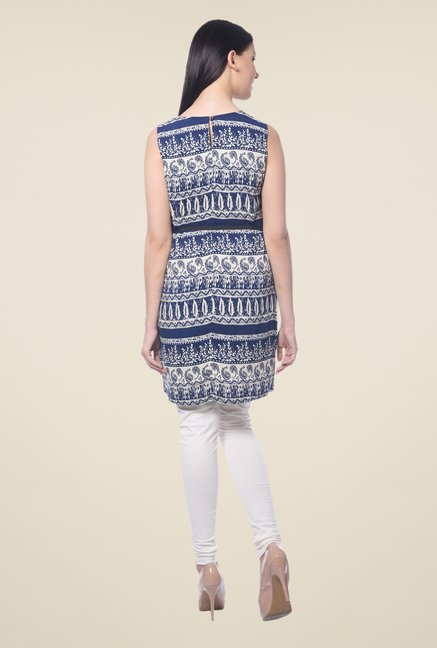 Forever Fashion Navy Printed Tunic