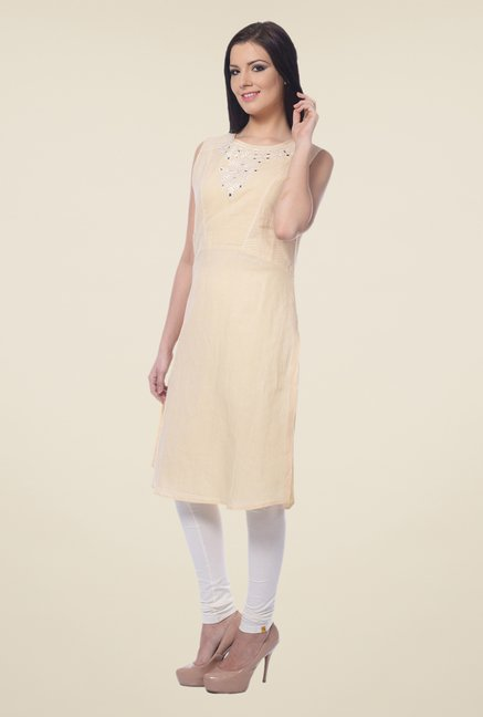Forever Fashion Yellow Linen Kurta