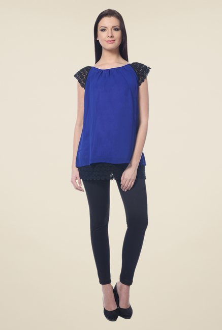 Forever Fashion Royal Blue Solid Top