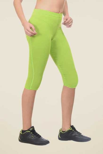 Armr Neon Green Skinny Fit Sports Shorts