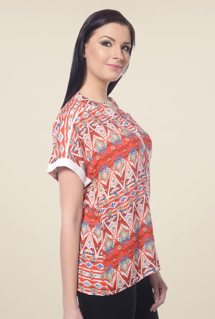 Forever Fashion Orange Printed Top