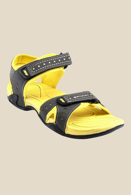 Spunk Sussex Black & Yellow Floater Sandals