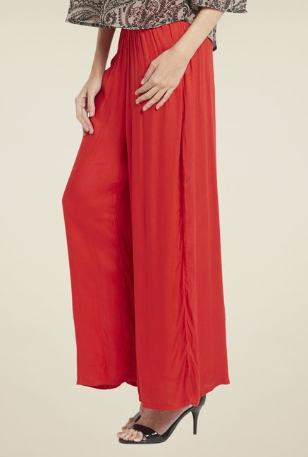 Globus Red Solid Palazzos