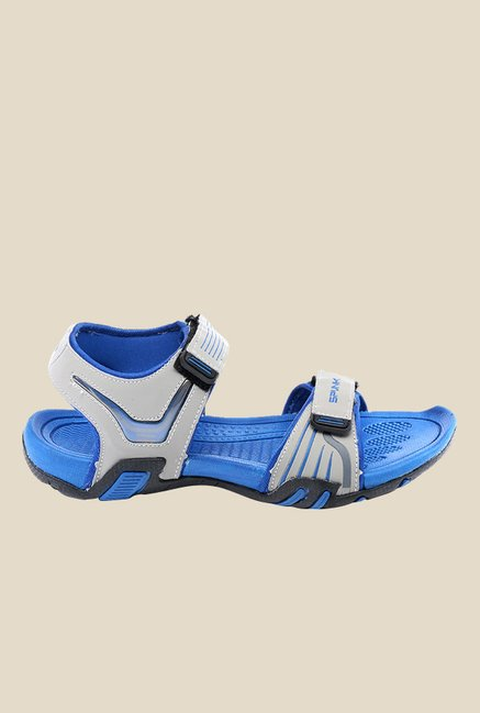 Spunk Chester Light Grey & Blue Floater Sandals