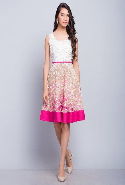 c624e5f698e6 Buy Fab India Pink Floral Print Dress Online at best price at TataCLiQ