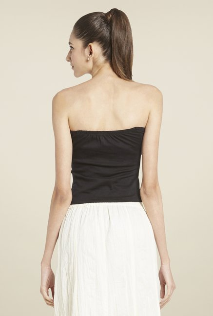 Globus Black Solid Tube Top