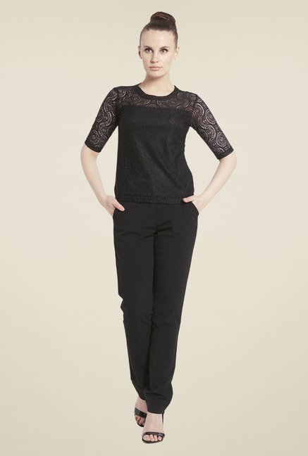 Globus Black Lace Top