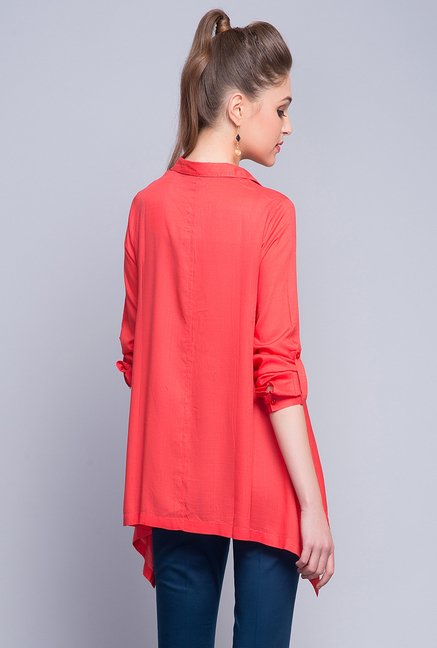 Fabindia Red Solid Shirt