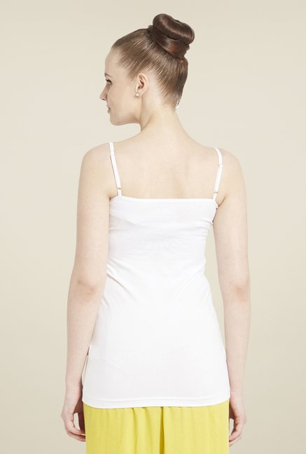 Globus White Solid Cami Top