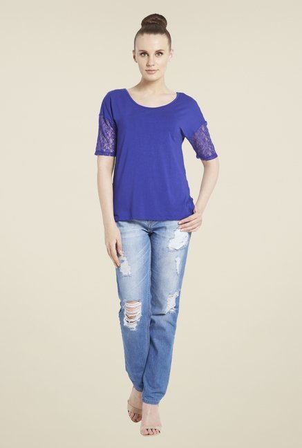 Globus Blue Solid Top