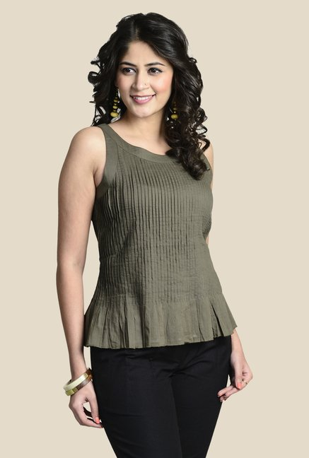 Fabindia Olive Solid Top