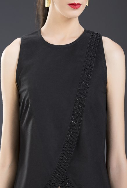 Fabindia Black Solid Top