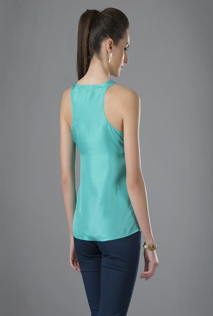Fabindia Turquoise Solid Top
