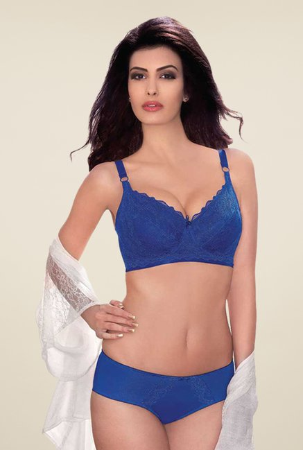 Amante Blue Underwired Full Coverage Minimizer Bra