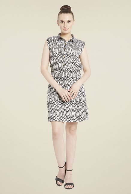 Globus Black & White Printed Dress