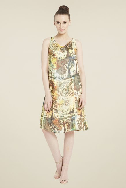Globus Multicolor Printed Dress
