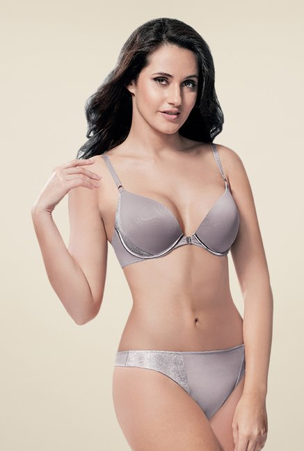 Amante Grey Half Coverage Padded Bra