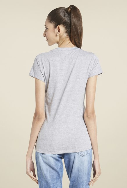 Globus Grey Graphic Print T-Shirt