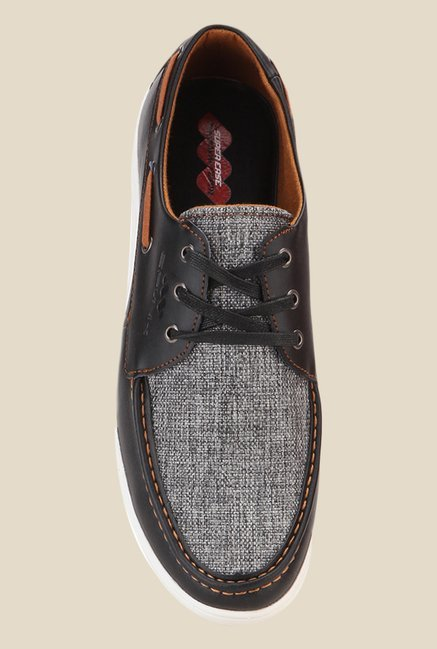 Spunk Gusto Grey & Brown Boat Shoes