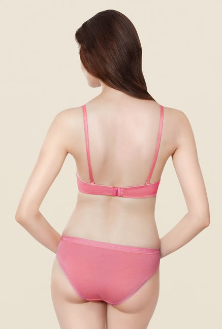 Amante Pink Padded Underwired T Shirt Bra