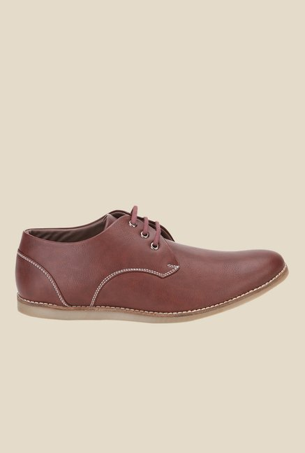 Spunk Rock Brown Derby Shoes