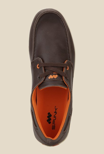 Spunk Kansas Brown & Orange Boat Shoes