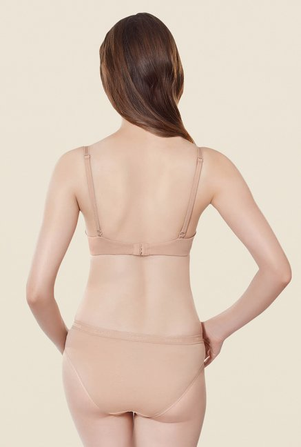 Amante Beige Pushup Padded Bra