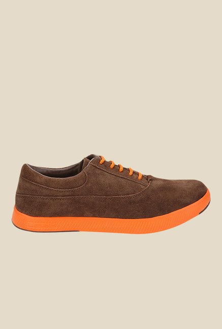 Spunk Geneva Brown & Orange Oxford Shoes