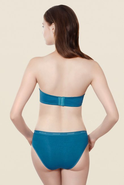 Amante Blue Convertible Padded Multiway Bra
