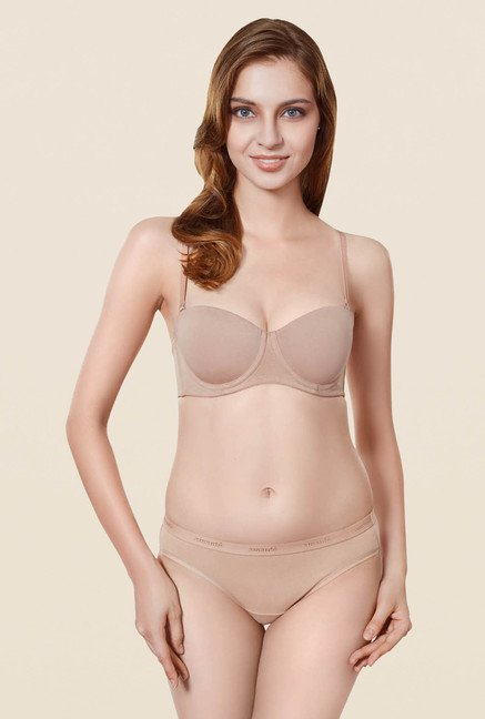 Amante Beige Convertible Padded Multiway Bra