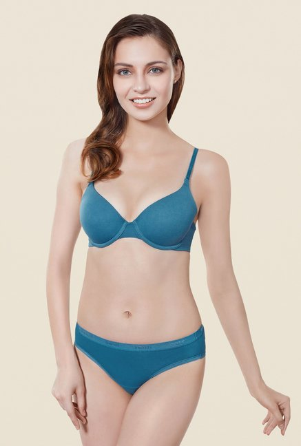 Amante Blue Padded Underwired T Shirt Bra