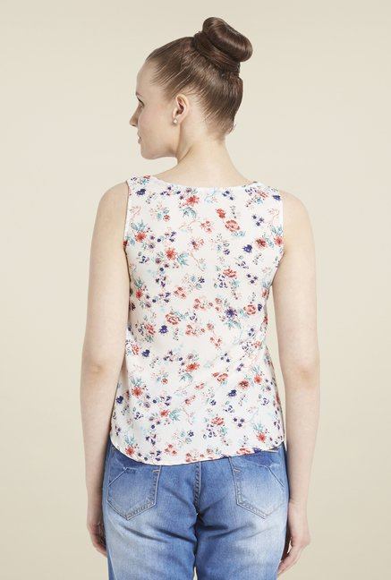 Globus Off-White Floral Print Top