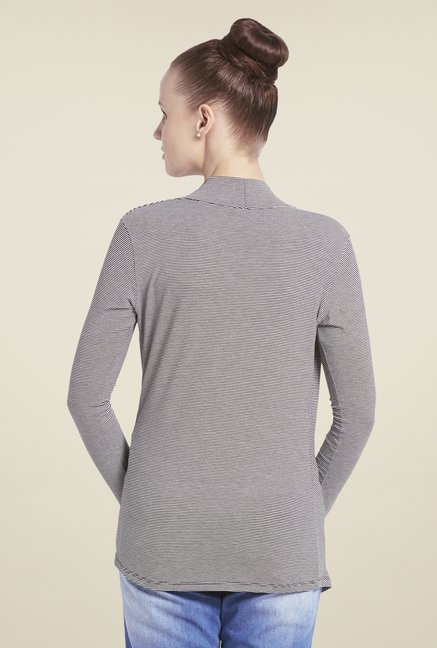 Globus Grey Striped Shrug