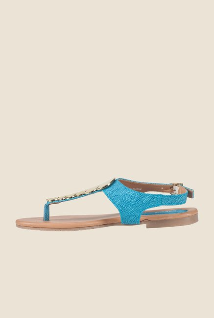 Khadim's Blue Back Strap Sandals