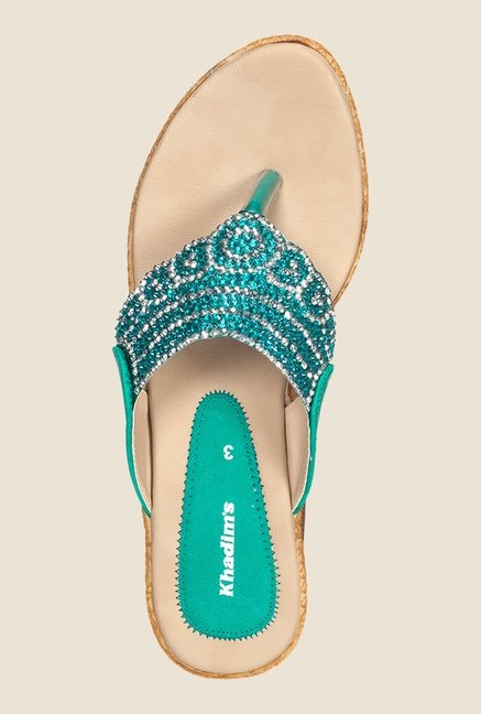 Khadim's Turquoise Wedge Heeled Sandals