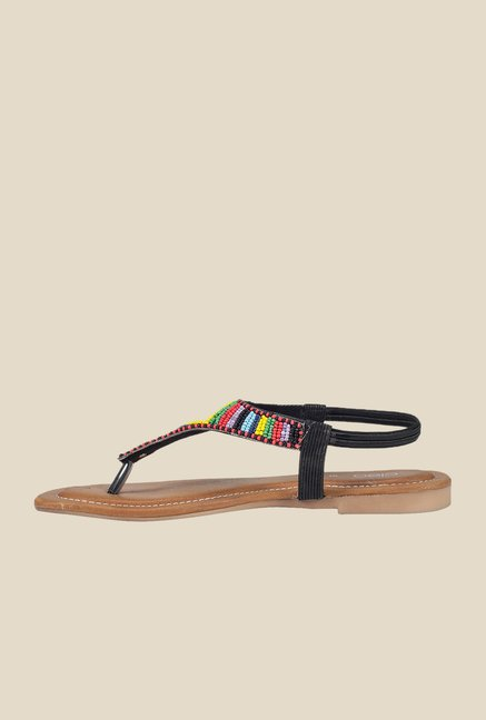 Khadim's Black Sling Back Sandals