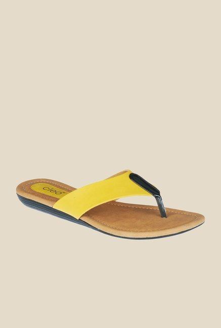 Khadim's Yellow Thong Sandals