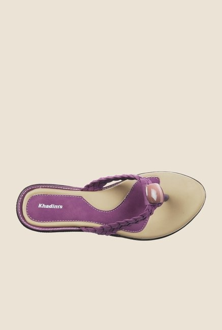 Khadim's Purple Thong Sandals