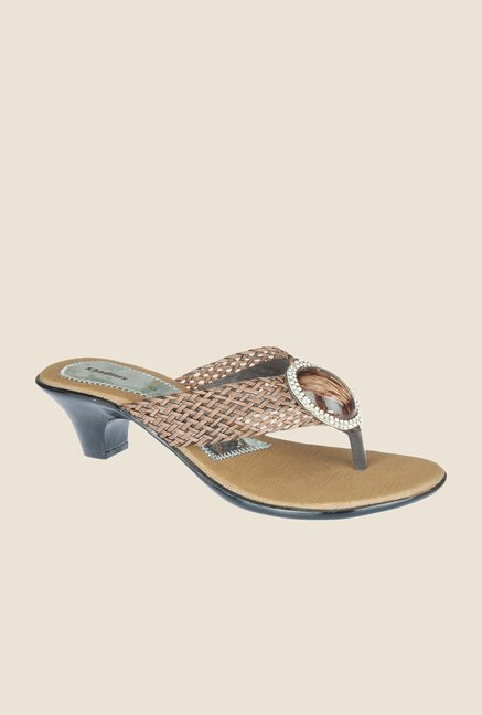 Khadim's Brown Thong Sandals