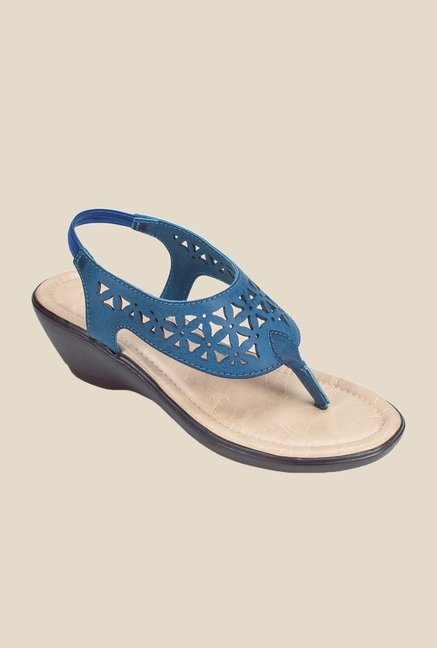 Khadim's Navy Sling Back Wedges