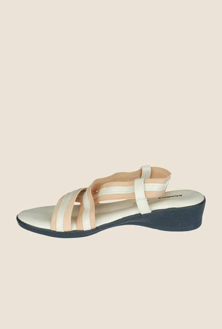 Khadim's Beige Sling Back Wedges