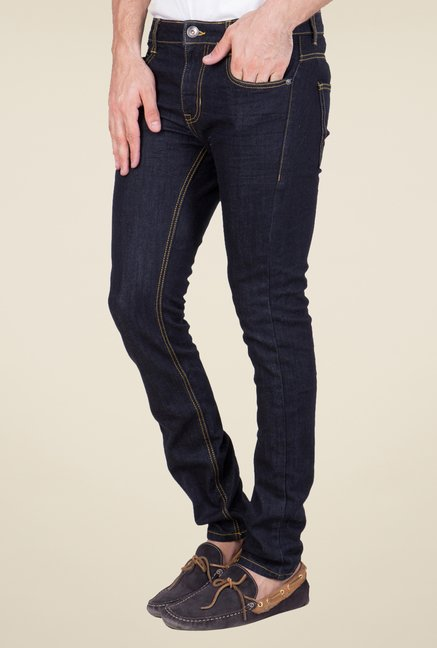 United Colors of Benetton Navy Raw Denim Jeans