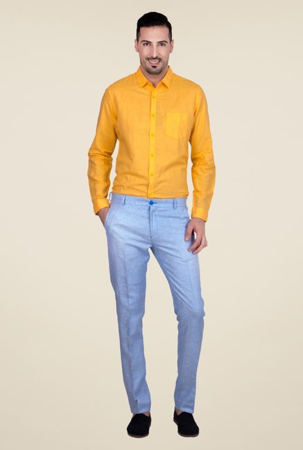 United Colors of Benetton Blue Printed Chinos